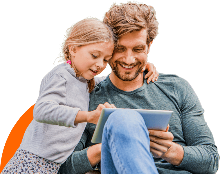 parent-with-child-looking-at-tablet
